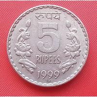 63-10 Индия, 5 рупий 1999 г.