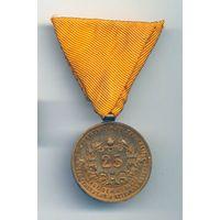Медаль за безупречную службу 25 лет пожарных и аварийно-спасательных служб Австрии