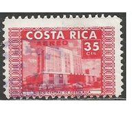 Коста-Рика. Авиапочта. 50 лет Центральному банку. 1967г. Mi#703.