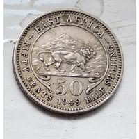Британская Восточная Африка 50 центов, 1949 3-10-16