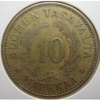 Финляндия 10 марок 1937 г. В холдере (g)
