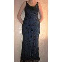 Платье вечернее черно-синее