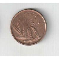 20  франков 1981 года Бельгии (надпись  BELGIE)