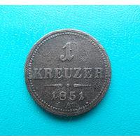 1 крейцер 1851