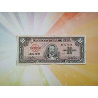 Куба 10 песо 1960г