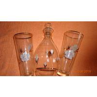 Новый набор для коктейля. Графин и 6 стаканов. 70-е годы