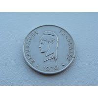 Французские Территории Афаров и Исса.  50 франков 1970 год  KM#18