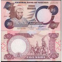 Нигерия 5 наира образца 2002 года UNC p24g
