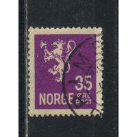 Норвегия 1946 Герб Стандарт ВЗ2 #167