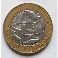 Италия 1000 лир, 1997 Карта с объединенной Германией 2-10-7
