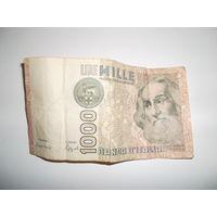 Деньги Италии.1000лир