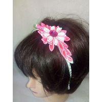 Обруч для волос цветок канзаши 1