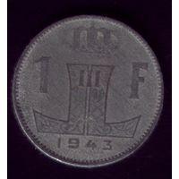 1 Франк 1943 год Бельгия