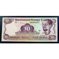 РАСПРОДАЖА С 1 РУБЛЯ!!! Никарагуа 50 кордоба 1984 год UNC