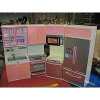 Игрушечная, кукольная кухонная мебель. Четыре предмета. Пластик.