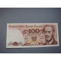 Польша 100 злотых  1976 г.