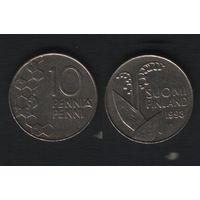 Финляндия km65 10 пенни 1993 год (M) (f37)