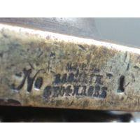 Подсвечник бронзовый в виде колонны цеховое клеймо Василий Феофилов царизм Россия империя Редкий