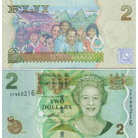 Фиджи 2 доллара 2011 год  UNC