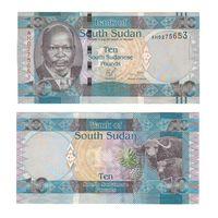 Банкнота Южный Судан 10 фунтов не датирована (2011) UNC ПРЕСС