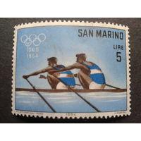 Сан-Марино 1964 олимпиада, гребля