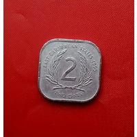 90-14 Восточные Карибы, 2 цента 1995 г.