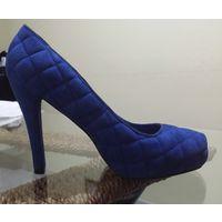 РАСПРОДАЖА!!! СКИДКА 20 %!!! Замшевые туфли на платформе ARMANI JEANS, 100 % оригинальные, с номерным сертификатом подлинности