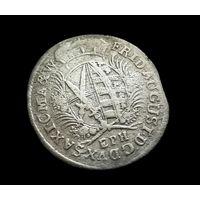 КУРФЮРШЕСТВО САКСОНИЯ-АЛЬБЕРТИН 1/12 ТАЛЕРА 1695 Г.  Фридрих Август I (1694-1733) ПО БЛИЦУ - ПОЧТОЙ БЕСПЛАТНО! .