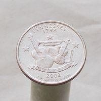 США 25 центов 2002 D Теннесси