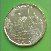 Канада 1 доллар 2017 150 лет Канадской конфедерации