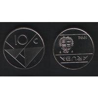 Аруба _km2 10 центов 1994 год (ba) (b06)