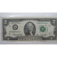 США 2 доллара 1976 - брак-смещение