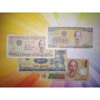 Вьетнам 1000-2000-5000 и 10000 донг