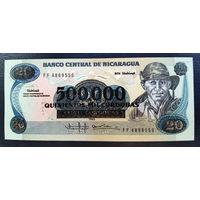РАСПРОДАЖА С 1 РУБЛЯ!!! Никарагуа 500000 кордоба на 20 1985 год UNC