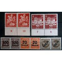 Третий рейх 1943 год ~ MI # 859; 862 - полные серии & Немецкий рейх ~ Kаждая вторая марка в подарок!