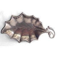 Конфетница Орешница Лист Серебрение SILVER PLATED
