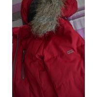 Дешево! Куртка Пуховик Германия CECIL Р-р 48-50  Темно-красная Удлиненная Р-ры на схеме