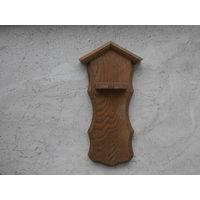 Подставка настенная из дуба для коллекционных ложек Германия 12 х 23.5 см.