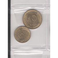 5 сантимов 1968 и 10 сантимов 1973. Возможен обмен