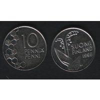 Финляндия km65 10 пенни 1995 год (M) (f33)(b04)n*