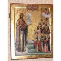 Икона Боголюбская Матерь Божья. Сусалка.