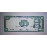 Никарагуа 10 кордоба 1996 unc