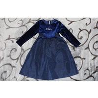 Платье темно-синее очень нарядное
