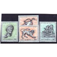 Сан-Марино.Ми 980-983.Этрусское искусство 3-6 век до н.э.1971.