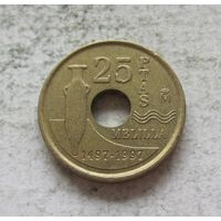 Испания 25 песет 1997 Мелилья