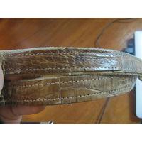 Ремешки от сумок из кожи крокодила и питона. НАСТОЯЩИЕ! Кожа не поддельная, а именно настоящая крокодилья и змеиная кожа.