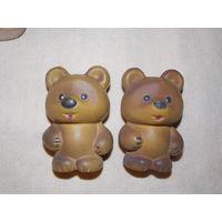 Мишка СССР, винни пух - резиновая игрушка СССР, пищалка, старая резина