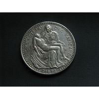 Папа Римский Иоанн Павел I медаль серебрение 35 мм