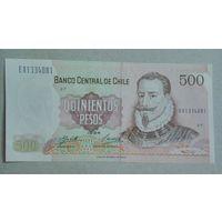 Чили 500 песо unc