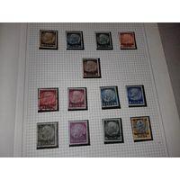 Третий Рейх - Остен, оккупация Польши, Генерал Губернаторство 1939, надпечатки. Полная серия 13 марок